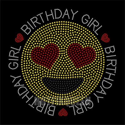 Emoji Birthday Girl Rhinestone/Stud Transfer