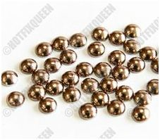 HotFixQueen | 3mm BROWN Hot Fix Domestuds, 3mm Domestuds