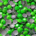 3mm NEON GREEN Hot Fix Rhinestuds