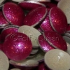 6mm FUCHSIA GLITTER Hot Fix Pearlstuds