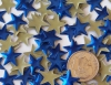 13mm Blue HotFix Star Nailheads 72pcs